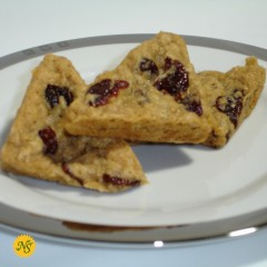 Oatmeal and Dried Cherry Scones